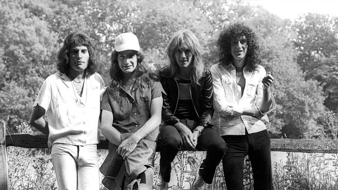 Queen enjoy the peace and quiet of the Monmouthshire countryside as they record their album A Night At The Opera in 1975.