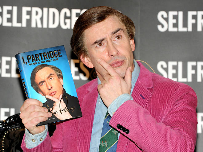 Coogan as Partridge at a book signing in Manchester, 2011