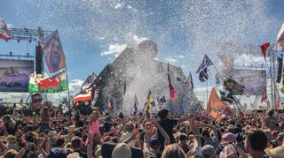 The Glastonbury Festival pyramid stage 2019