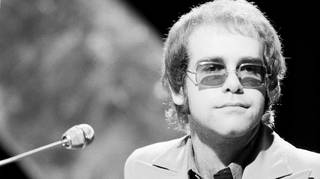 Elton John performs Rocket Man on Top Of The Pops, 24 May 1972.