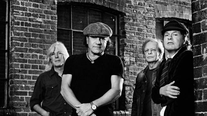 AC/DC's Cliff Williams, Brian Johnson, Stevie Young and Angus Young in 2014