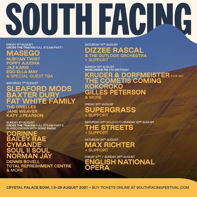 South Facing Festival line-up