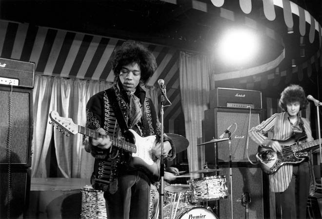 The Jimi Hendrix Experience filmed at the Marquee Club for German TV in March 1967