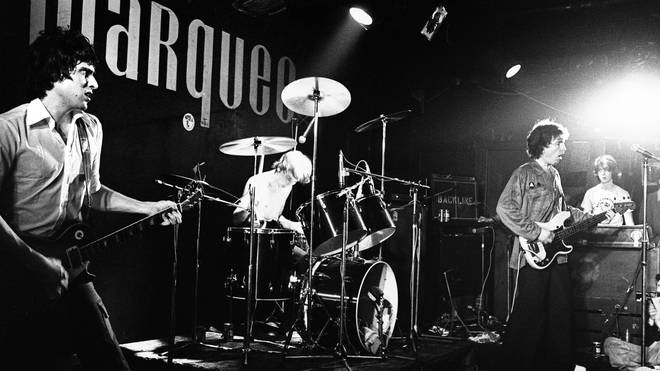 The Tom Robinson Band at the Marquee Club, London, October 1977.