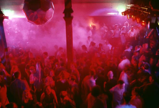 A busy night on the Hacienda dancefloor, Manchester 1989
