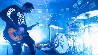 Royal Blood onstage at the Leadmill in Sheffield, Halloween 2014