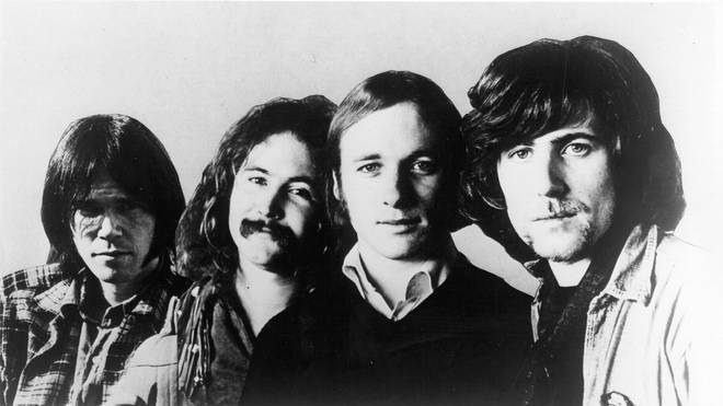 Neil Young, David Crosby, Stephen Stills and Graham Nash in 1970.