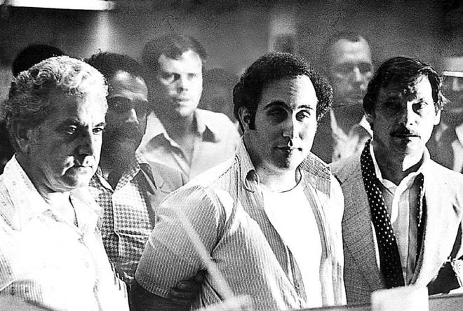 Son of Sam, David Berkowitz is charged in court on 11 August 1977