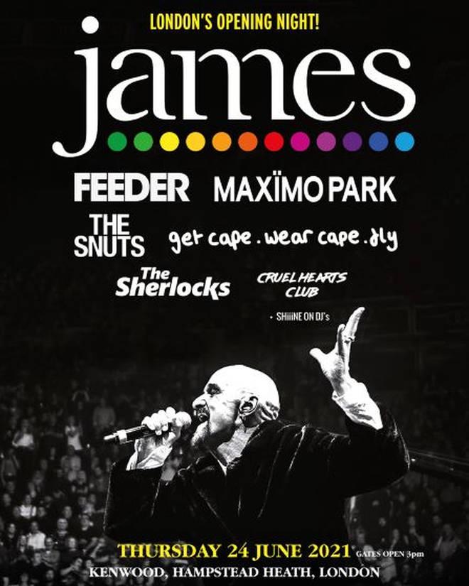 James to headline Kenwood Live 2021