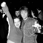 Jon Bon Jovi and Björk at the BRIT Awards afterparty, 14 February 1994