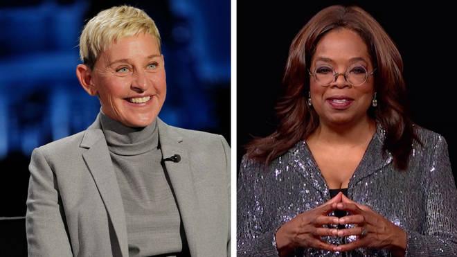 Ellen DeGeneres and Oprah Winfrey