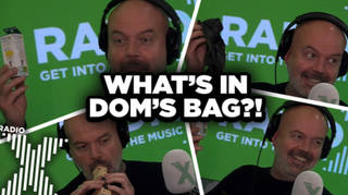 Dom reveals what's in his bag on The Chris Moyles Show