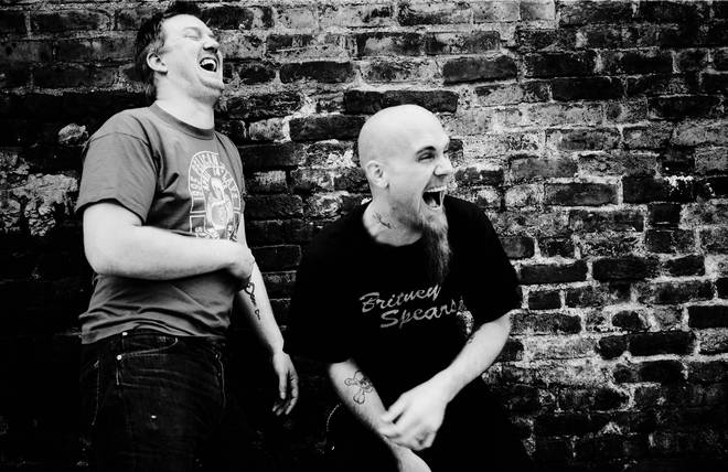 Photo of Nick OLIVERI and Josh HOMME and QUEENS OF THE STONE AGE