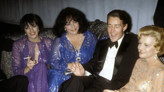 Liza Minnelli, Halston, Elizabeth Taylor and Betty Ford at Studio 54