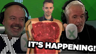 James has finally booked a jam sandwich-eating session on The Chris Moyles Show