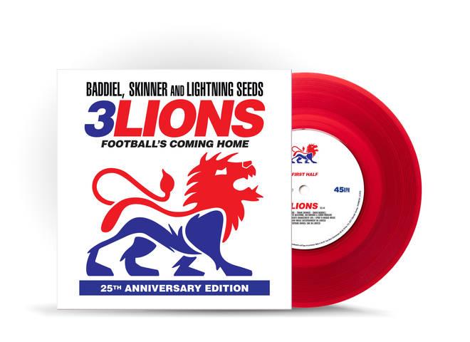 The new Three Lions 25th anniversary vinyl reissue