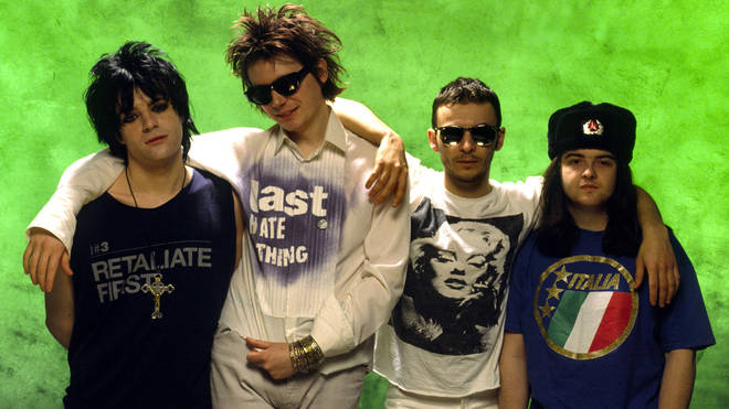 Manic Street Preachers in March 1992:-Richey Edwards, Nicky Wire, James Dean Bradfield and Sean Moore.