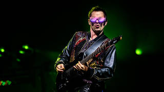 Matt Bellamy a lead singer of the Muse Rock Band performed a...