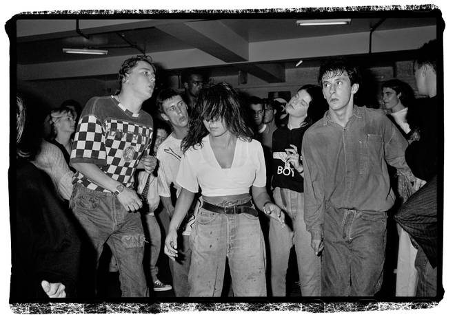 Bez joins the throng at The Haçienda on 6 July 1988.