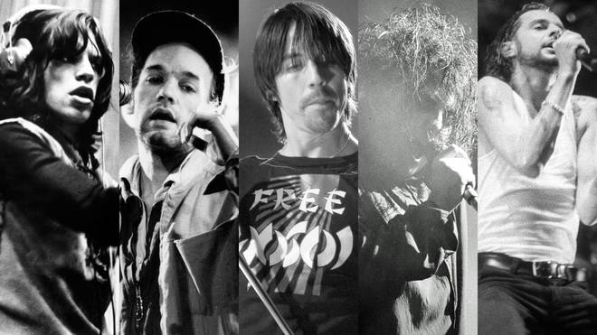 Mick Jagger, Michael Stipe, Anthony Kiedis, Robert Smith and Dave Gahan