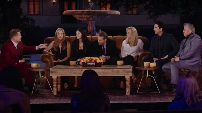 James Corden interviews Friends cast in Friends: The Reunion