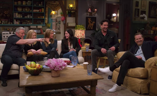 The Friends cast return to the set in Friends: The Reunion