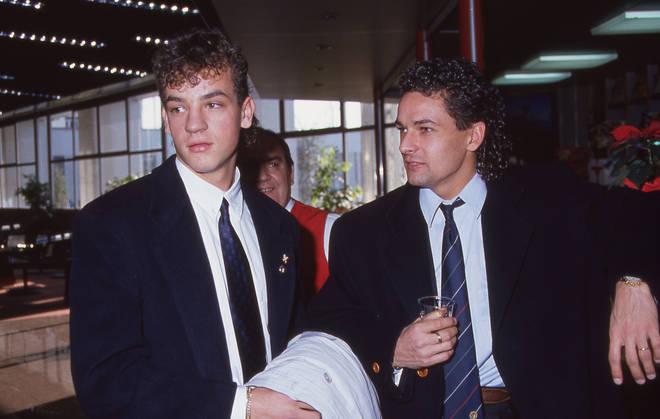 Eddy e Roberto Baggio nel 1991