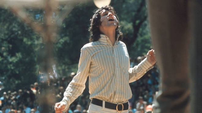 Jim Morrison performing with The Doors at the Mount Tamalpais Fantasy Fair  & Music Festival on 10 June 1967