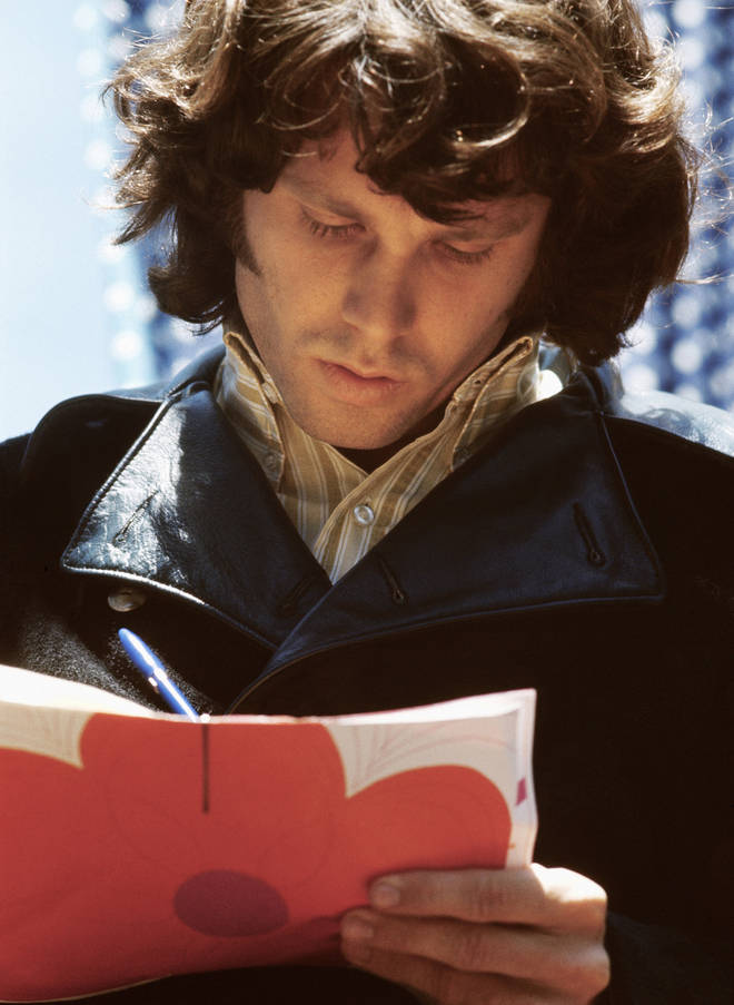 The Lizard King himself, Jim Morrison, signs a copy of the Fantasy Fair And Magic Mountain Music Festival programme.