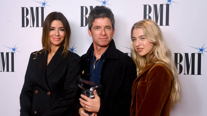 Noel Gallagher with wife Sara MacDonald and daughter Anais during the 2019 BMI London Awards
