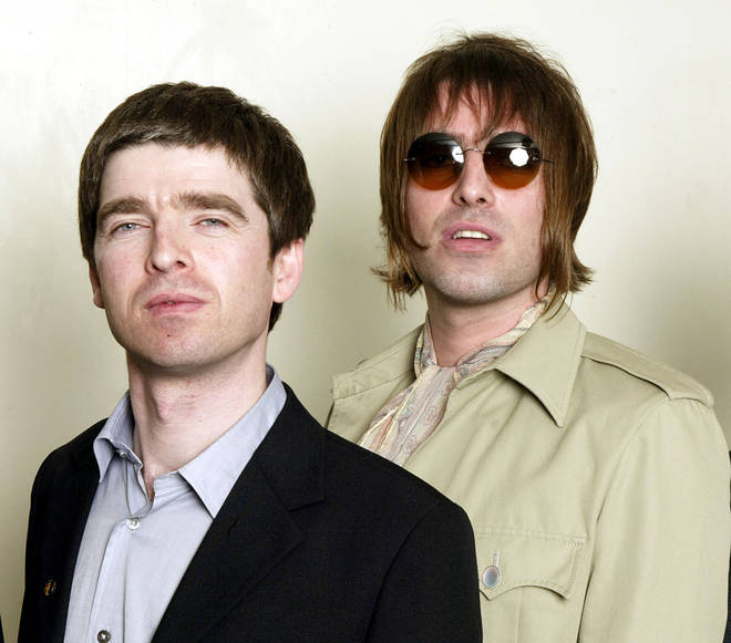 Noel and Liam Gallagher at the Teenage Cancer Trust show at the Royal Albert Hall on March 26, 2003