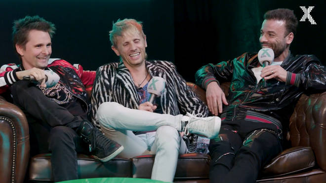 Matt Bellamy, Dominic Howard and Chris Wolstenholme at Radio X Presents... A Evening In Conversation with Muse