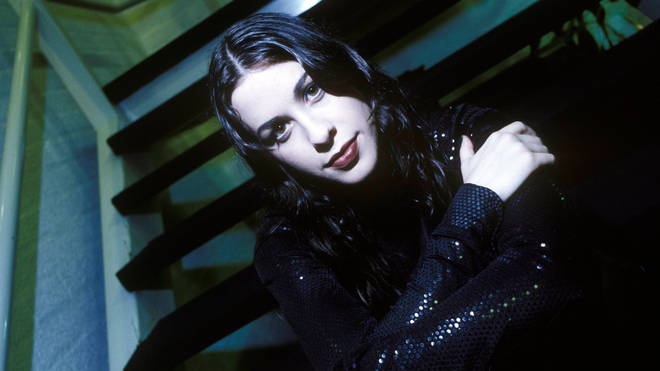 Alanis Morrisette photographed in London in 1996