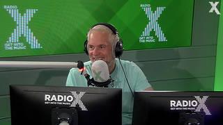 Chris Moyles talks to competition winner Jenny