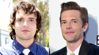 Brandon Flowers of The Killers in June 2004 and February 2019
