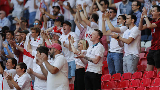 An England fan was rushed to hospital during the team's Croatia match yesterday