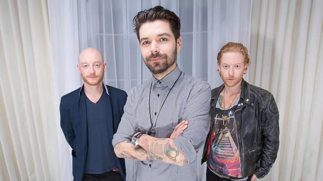 Biffy Clyro in 2012: Ben Johnston, Simon Neil and James Johnston