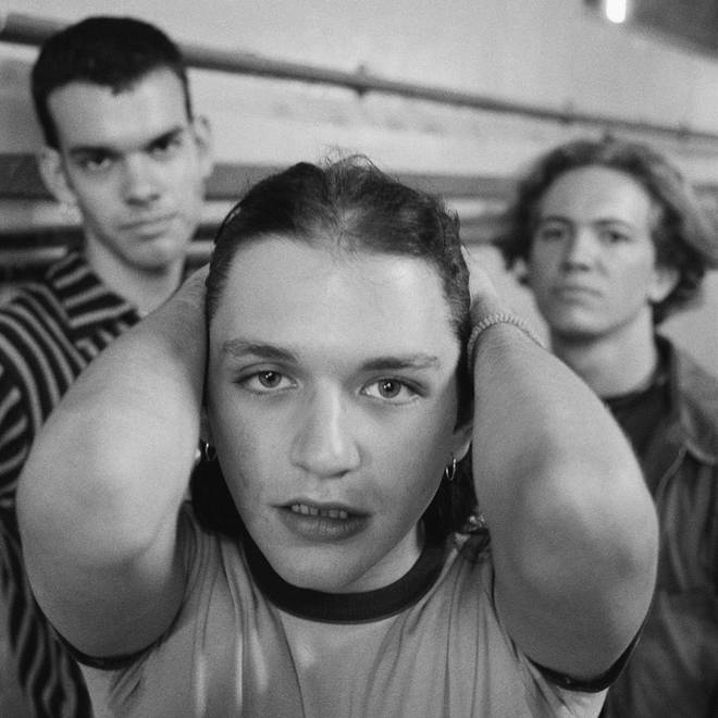 Placebo in 1996, around the time of their first album:  bassist Stefan Olsdal, singer Brian Molko and drummer Robert Schultzberg.