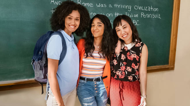 Devi's friends Fabiola and Eleanor are played by Lee Rodriguez and Ramona Young