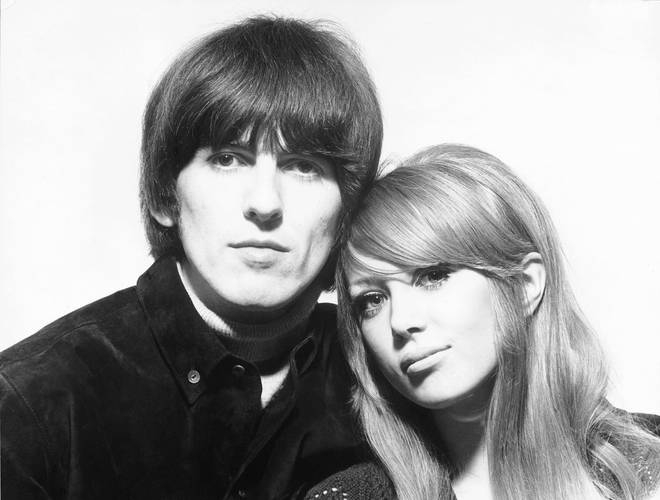 George Harrison and Patti Boyd at the time of their wedding in January 1966