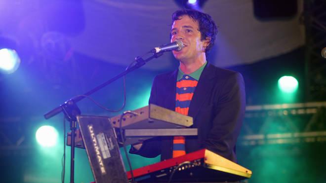 Brandon Flowers onstage at The Killers' breakthrough set at Glastonbury 2004