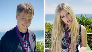 Tony Hawk and Avril Lavigne