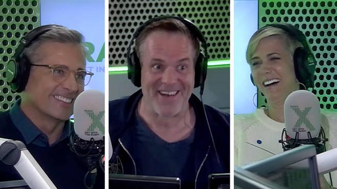 Steve Carell, Chris Moyles and Kristen Wiig