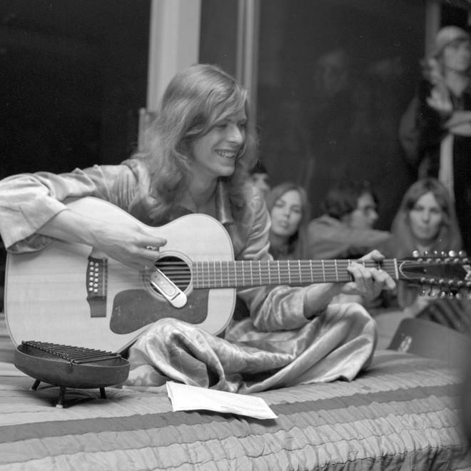 David Bowie during his promo tour of the US in January 1971. The trip would become the inspiration for the 2020 film Stardust