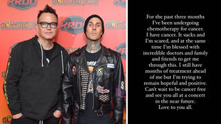 Travis Barker says he'll be with Mark Hoppus 'every step of the way' after cancer diagnosis