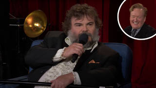 Jack Black sprained his ankle on the Conan finale