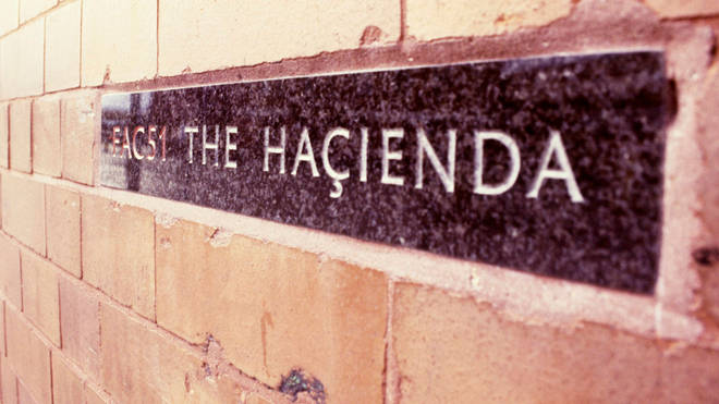 The Hacienda sign, shortly before the building was demolished in 2002