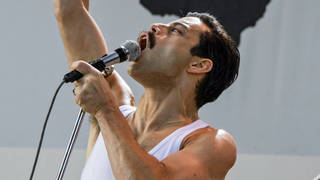 Rami Malek as Freddie Mercury in the film Bohemia Rhapsody