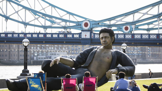 A statue of Jeff Goldblum at Pottters Field in London on 18 July 2018