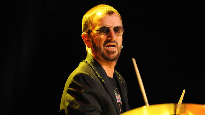 Ringo Starr, doing what he does the best, in June 2011